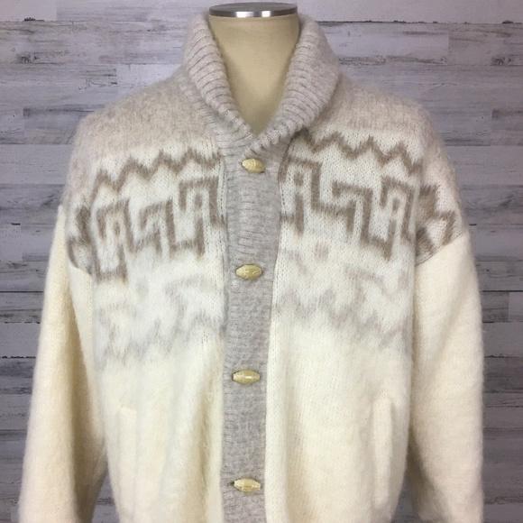 Tundra Other - VTG Tundra M Wool Scandinavian Cardigan Sweater